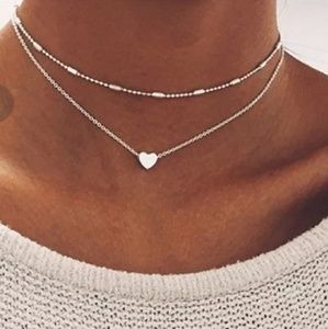 Jewelry - 🍁4/$25🍁 New Silver Multilayer Necklace